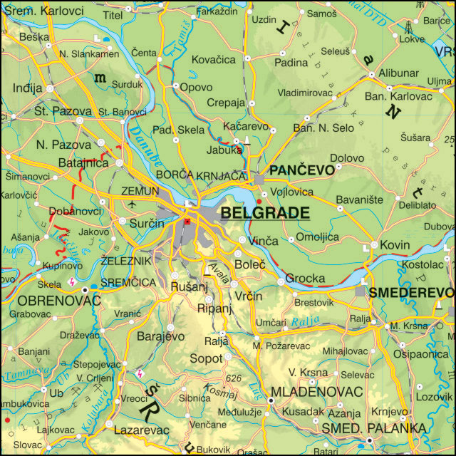 geografska karta srbije sa legendom Školska fizičko geografska zidna karta geografska karta srbije sa legendom